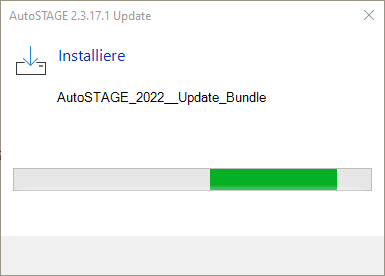 Installation des Updates für das Hauptprogramm