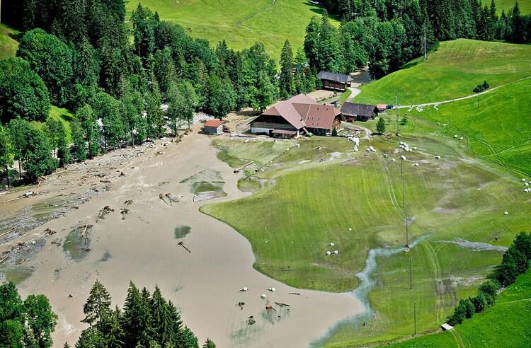 Hochwasser Unwetter Bumbach Schangnau 2014