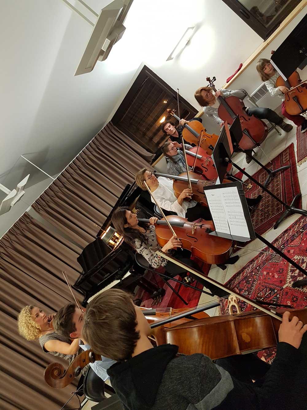 Ensemble de violoncelles