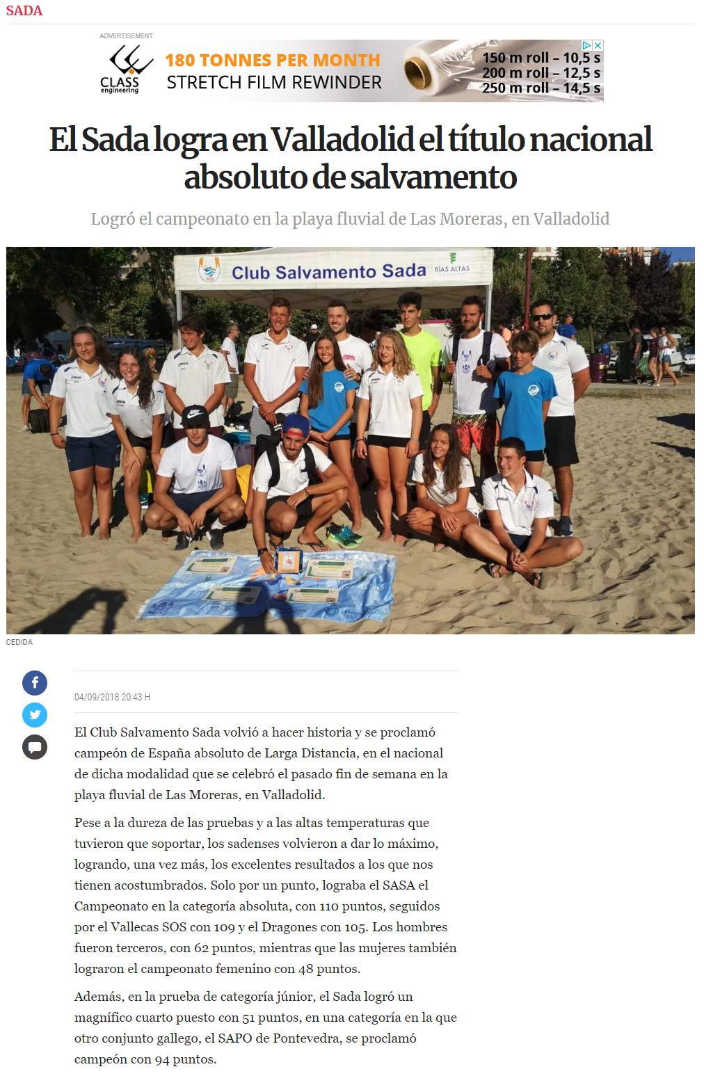 LA VOZ DE GALICIA 05-09-18