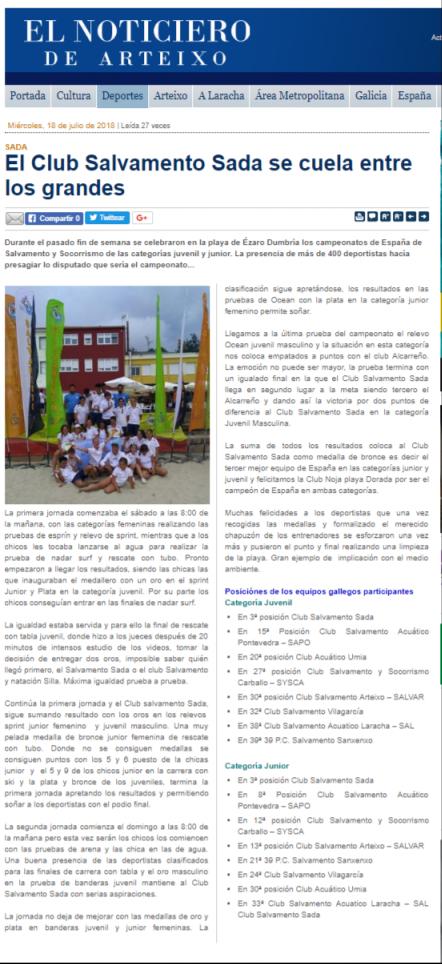 EL NOTICIERO DE ARTEIXO 18-07-18