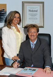 Firmengründer Gioacchino Di Frisco mit Ehefrau