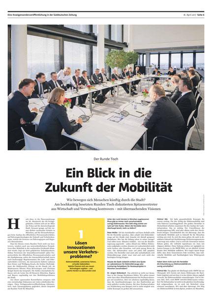 Zeitungsartikel: Stadt der Zukunft, der runde Tisch der Süddeutschen Zeitung