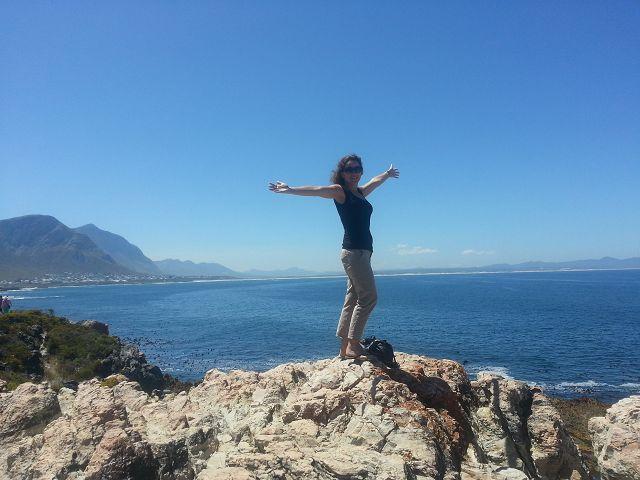 Jenny auf einer Mietwagenreise in Südafrika