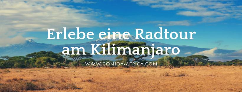 Radtour Kilimanjaro Tansania Reise