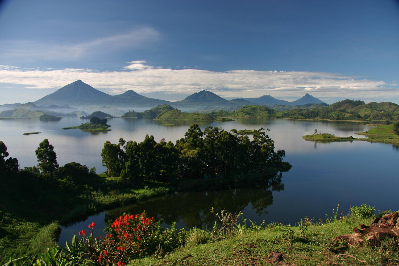 Ausblick Lake Mutanda