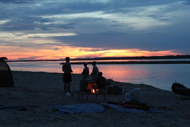 Sonnenuntergang am Zambezi