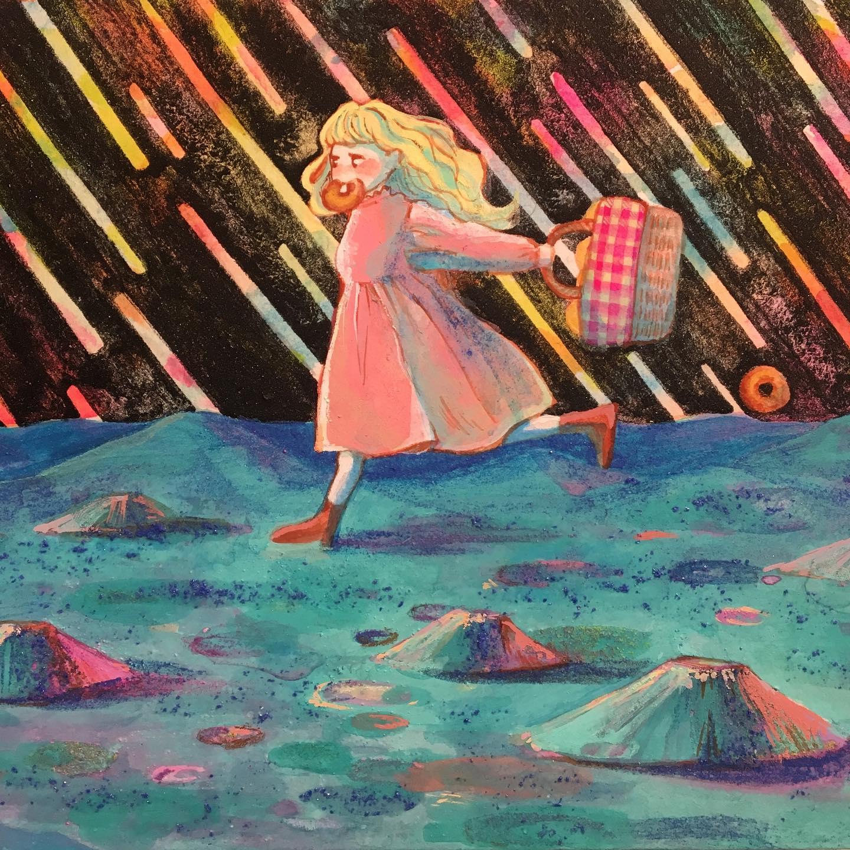 森乙樹 画「月面ドーナッツ」