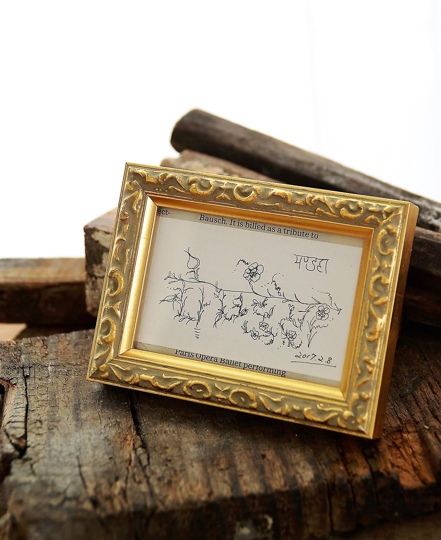 サンスクリット語「曼荼羅」ハーブ花絵で。