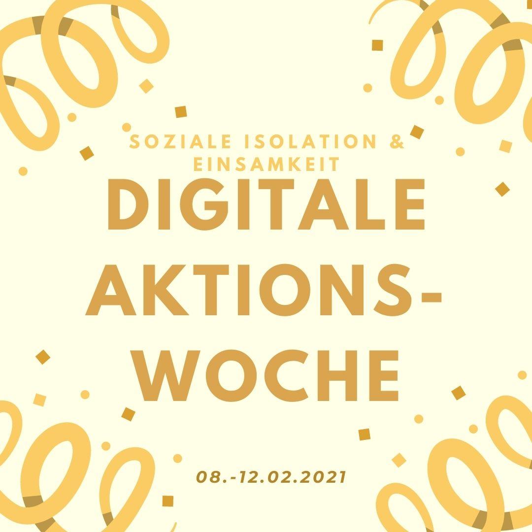 digitale Aktionswoche - Soziale Isolation und Einsamkeit