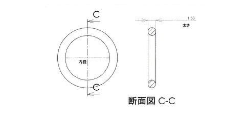 Oリング寸法規格図