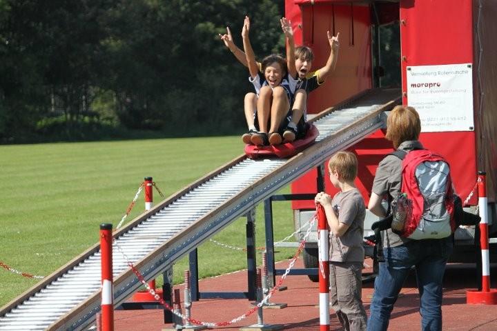 Die Rollerrutsche macht Spaß!