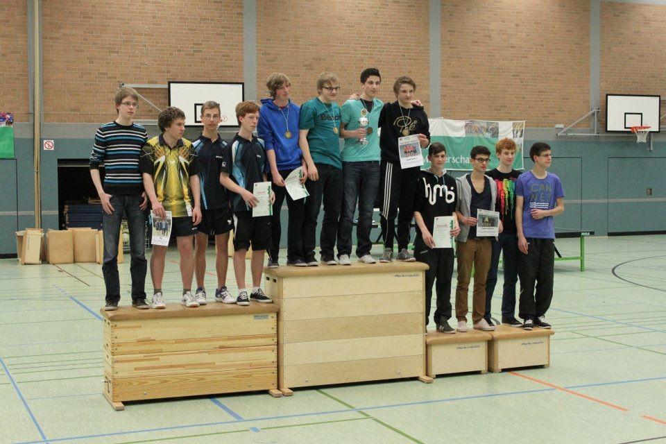 Siegerehrung Jungen I (3. Platz): Marcel, Festim, Marian,  Fabian