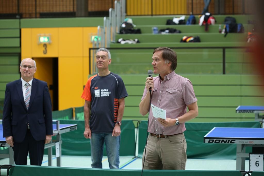 Begrüßung: Bürgermeister Link, Vorsitzender Georg Armbruster und Volker Kamin vom CVJM