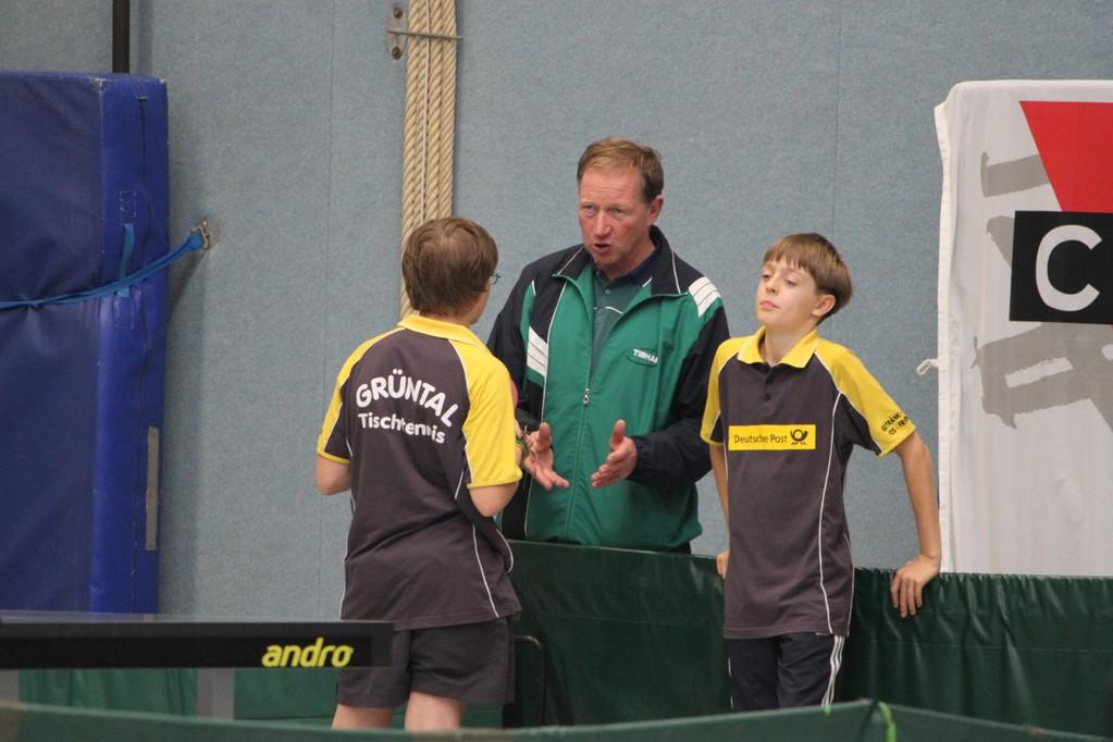 Wolfgang beim Coachen
