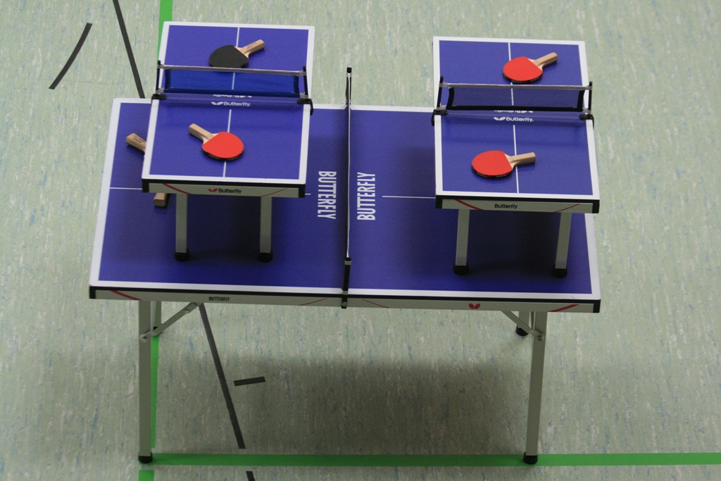 Mini-Tische in der Fun-Arena