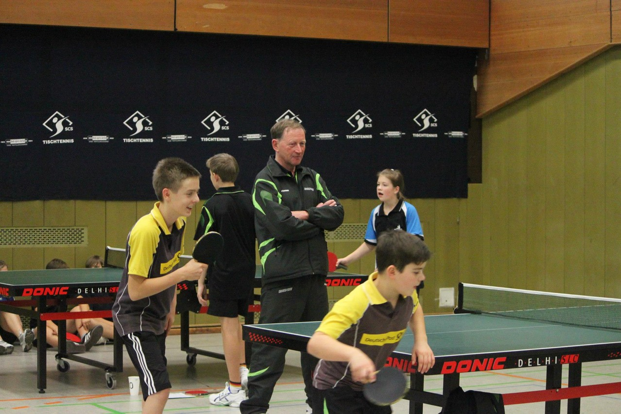 Daniel und Nikita  unter Coach Wolfgang Hartmann
