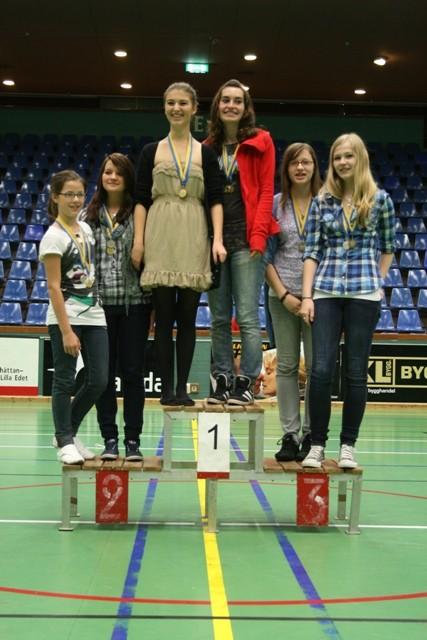 Goldmedaillen-Gewinner im Doppel: Trimore und Katrin