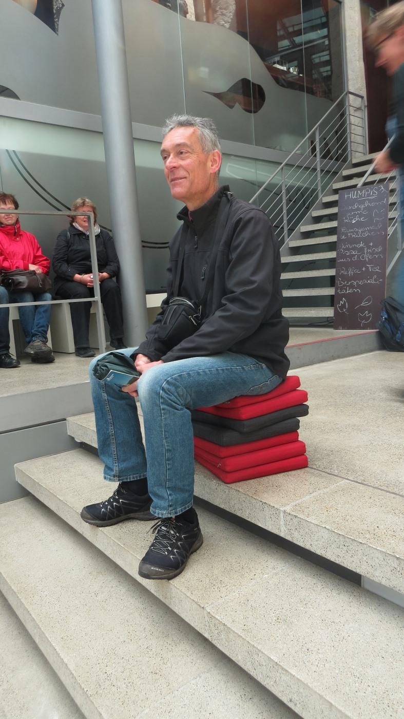 Jörg beim Museumsbesuch