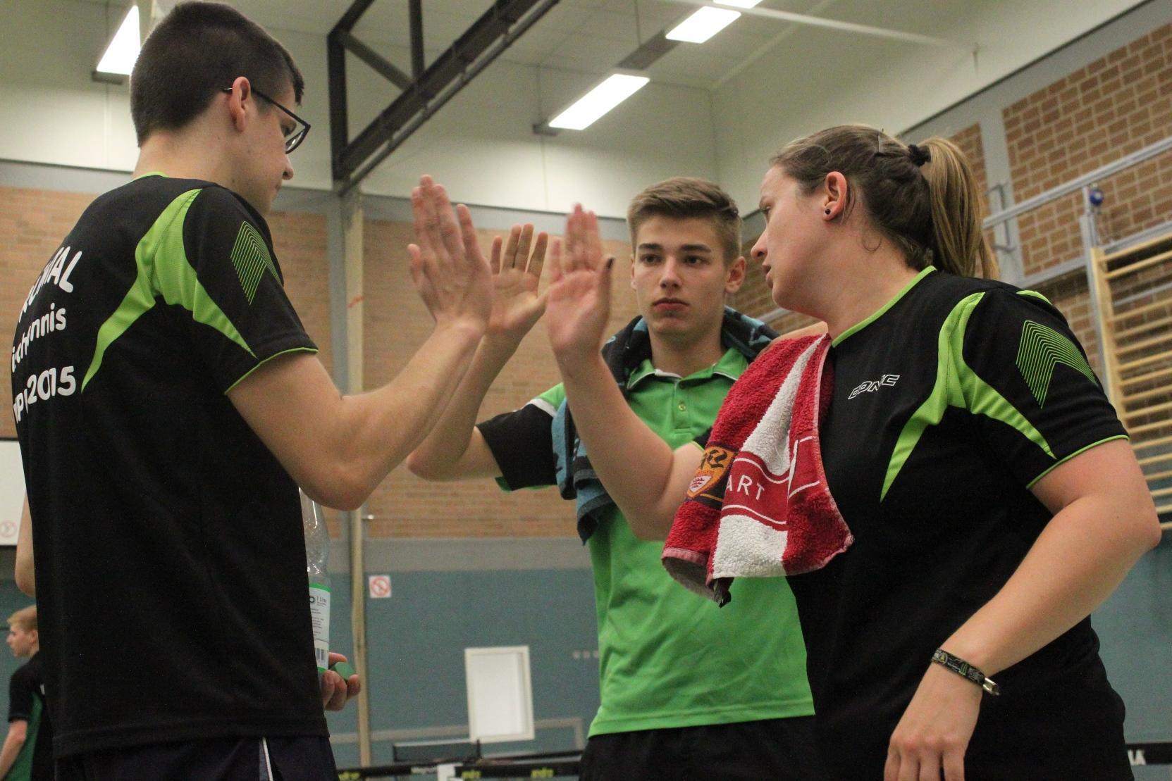 Fabian coacht Fabio und Shpresa
