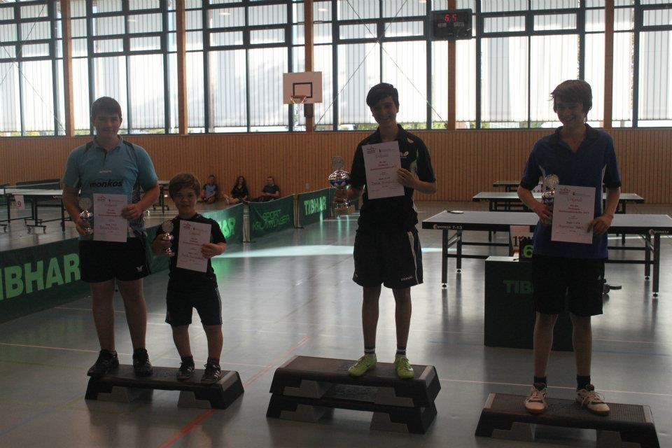 Siegerehrung Jungen U18B: Moritz wurde 3.