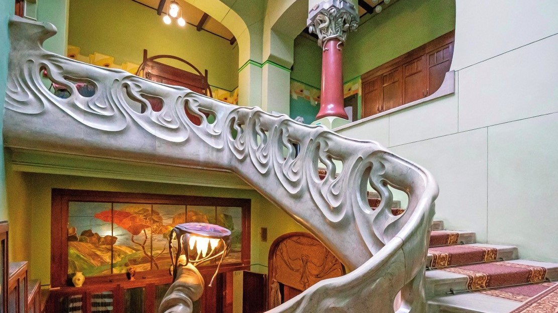 Moscow, The Gorky House (Stairway)