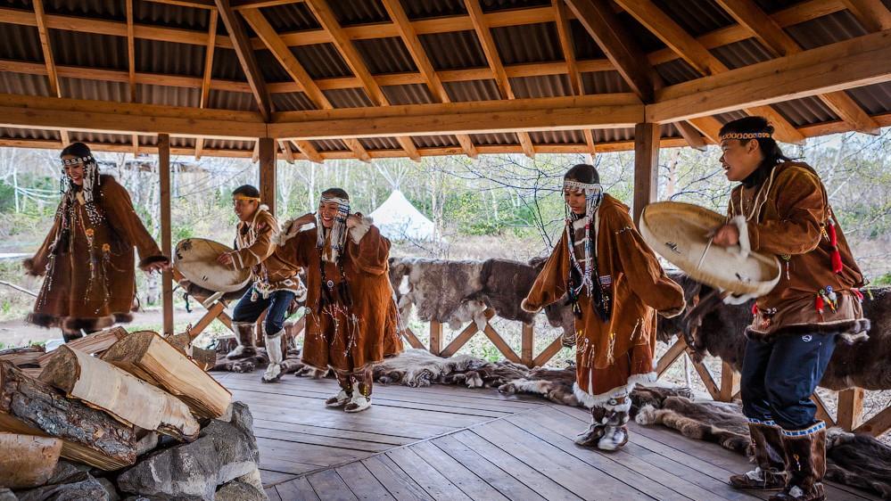 Esso village, Kamchatka natives