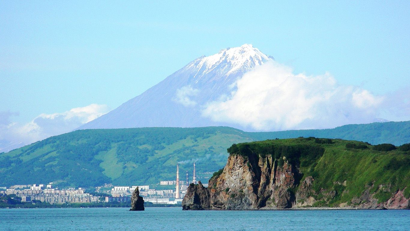 Petropavlovsk-Kamchatsky, view from the harbour