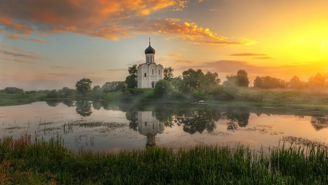 Nerl, the Church of the Intercession on the Nerl River
