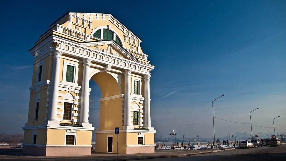 Irkutsk, Triumphal Arch Moscow Gates