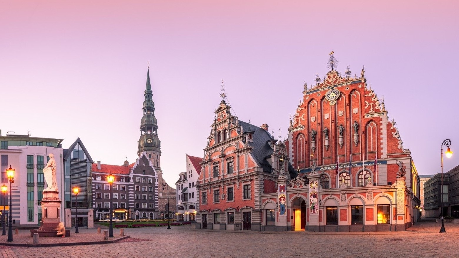 Riga, the Town Hall Square