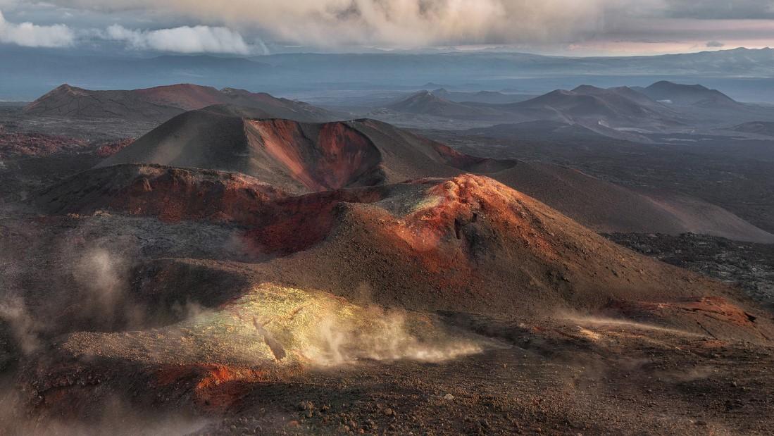 Сones of the Great Tolbachik Fissure Eruption