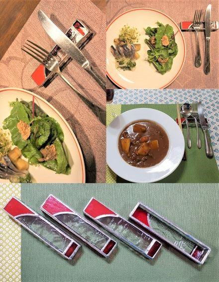 """""""Client Photos."""" 身近で大切な食のシーンにとオーダーいただいたナイフレスト*USER'S VOICEページに撮影された写真とコメントをアップしました"""