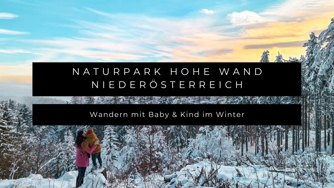 Naturpark Hohe Wand in Niederösterreich - Wandern mit Baby und Kind im Winter