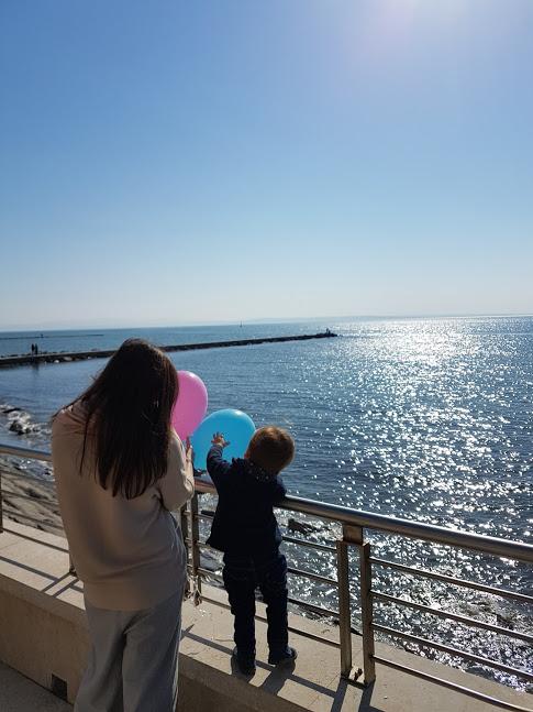Grado Meer mit Kind