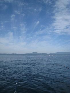 いい景色を眺めながらアイナメ釣り