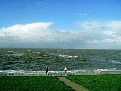 Die Nordsee bei Sturm