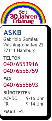 Kontakt ASKB - Telefon 040 65539-16