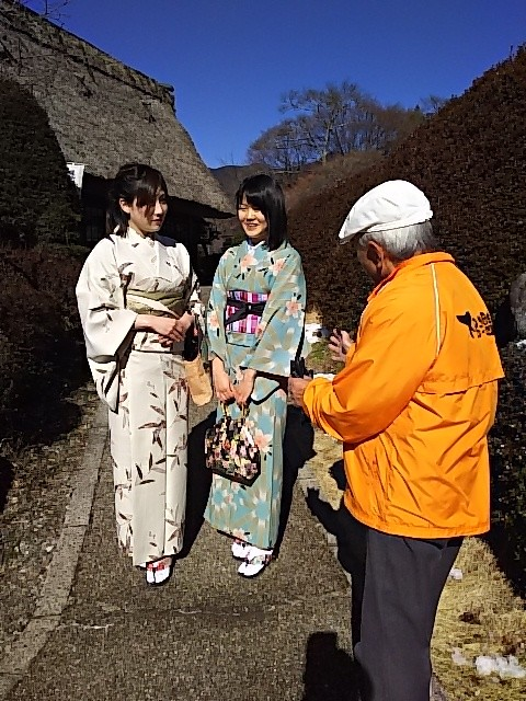 下呂温泉合掌村で着物撮影