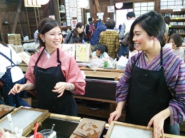 下呂温泉合掌村では絵すき体験ができます
