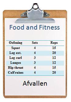 Trainingsschema trainingsschema's workout workoutschema afvallen