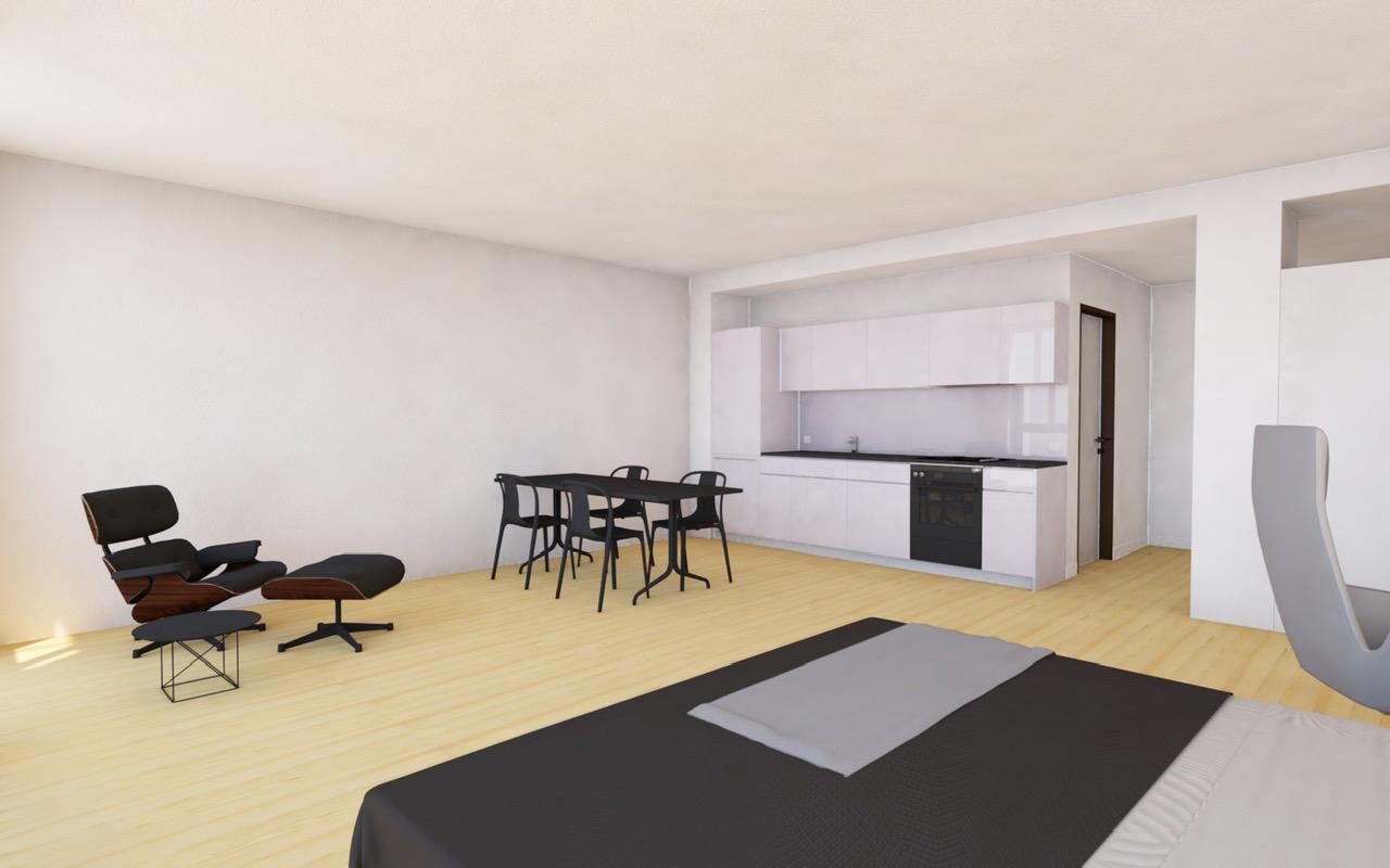 1.5 Zimmer Wohnung, 2. OG