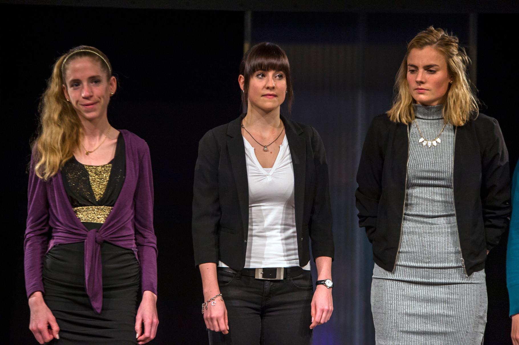 Die 3 ersten der Kategorie Frauen Elite