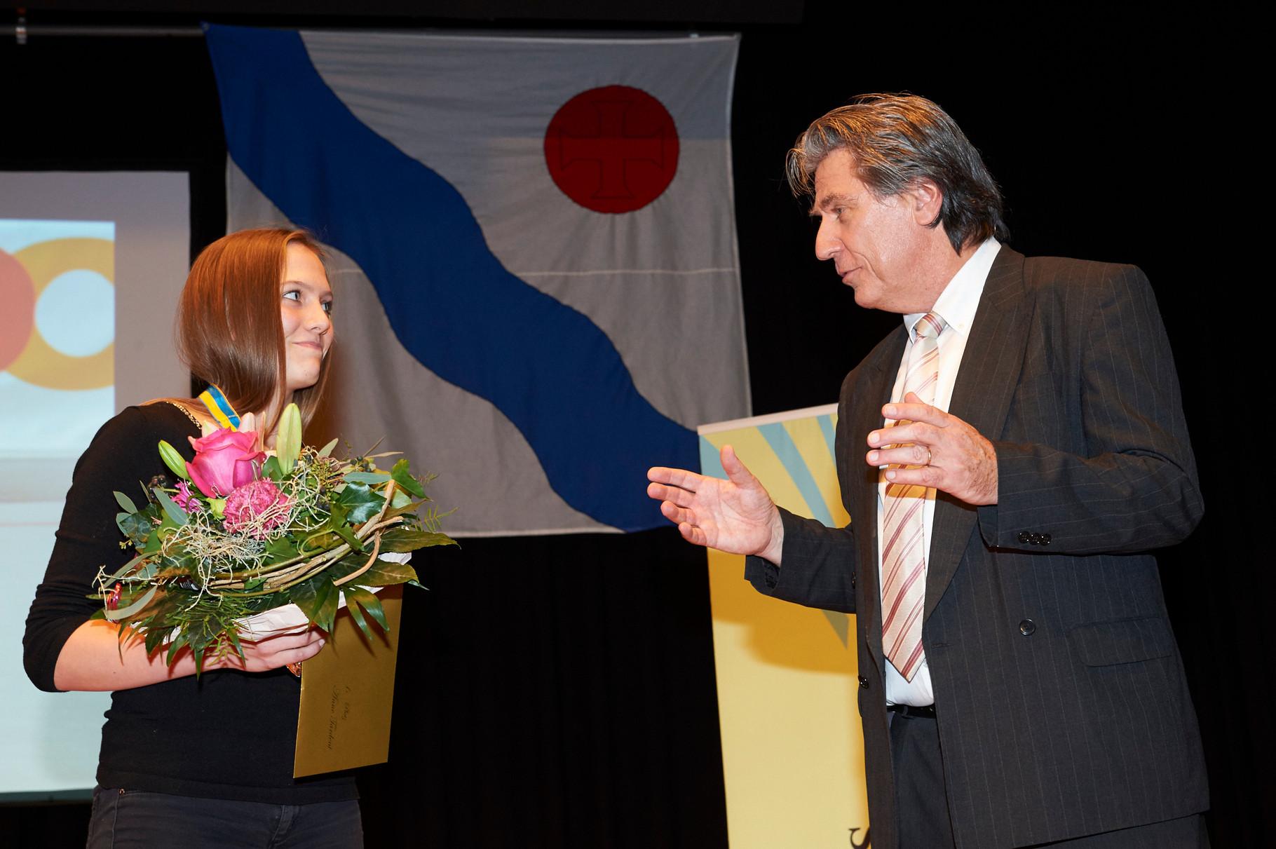 Barni Schär im Interview mit Siegerin Anne Tardent