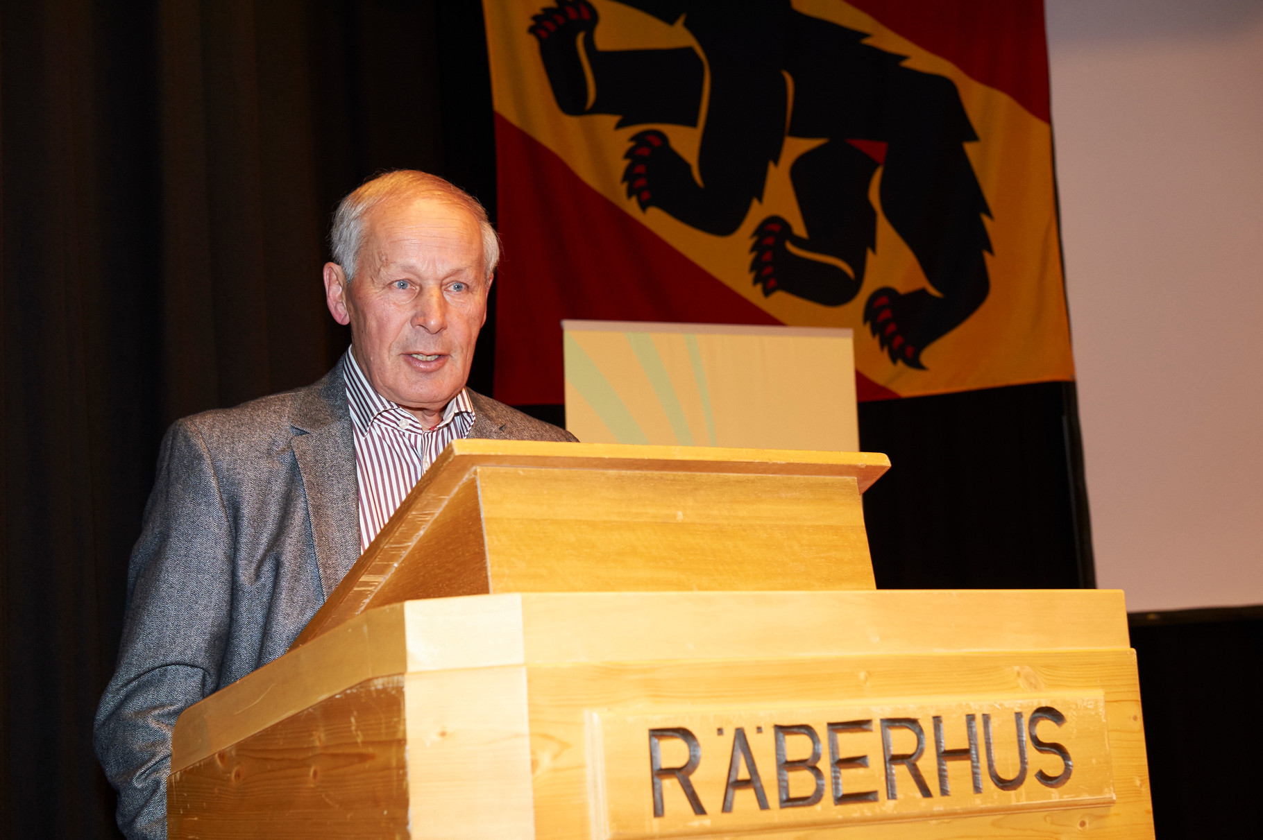 Hansruedi Wyss würdigt die Sportpersönlichkeit Ch.Moser