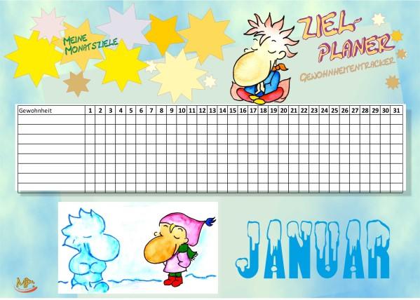 Gewohnheitentracker Januar