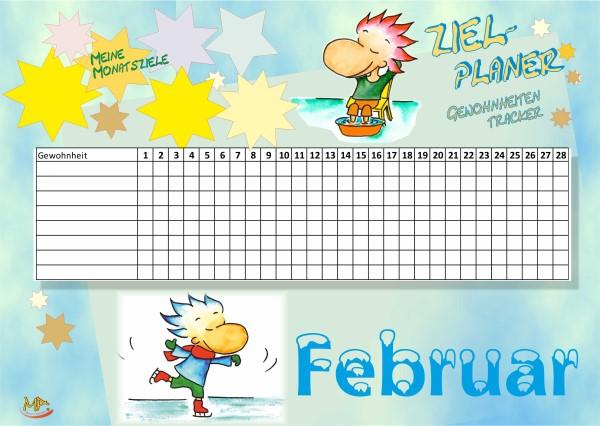 Gewohnheitentracker Februar
