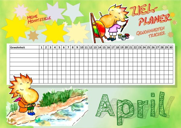 Gewohnheitentracker April