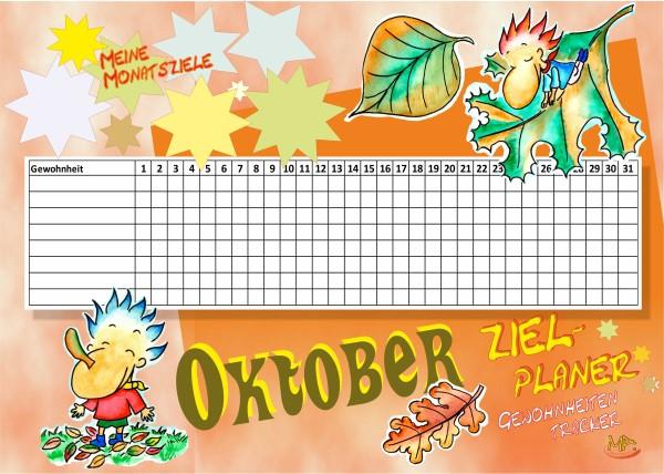 Zielplaner Gewohnheitentracker Oktober