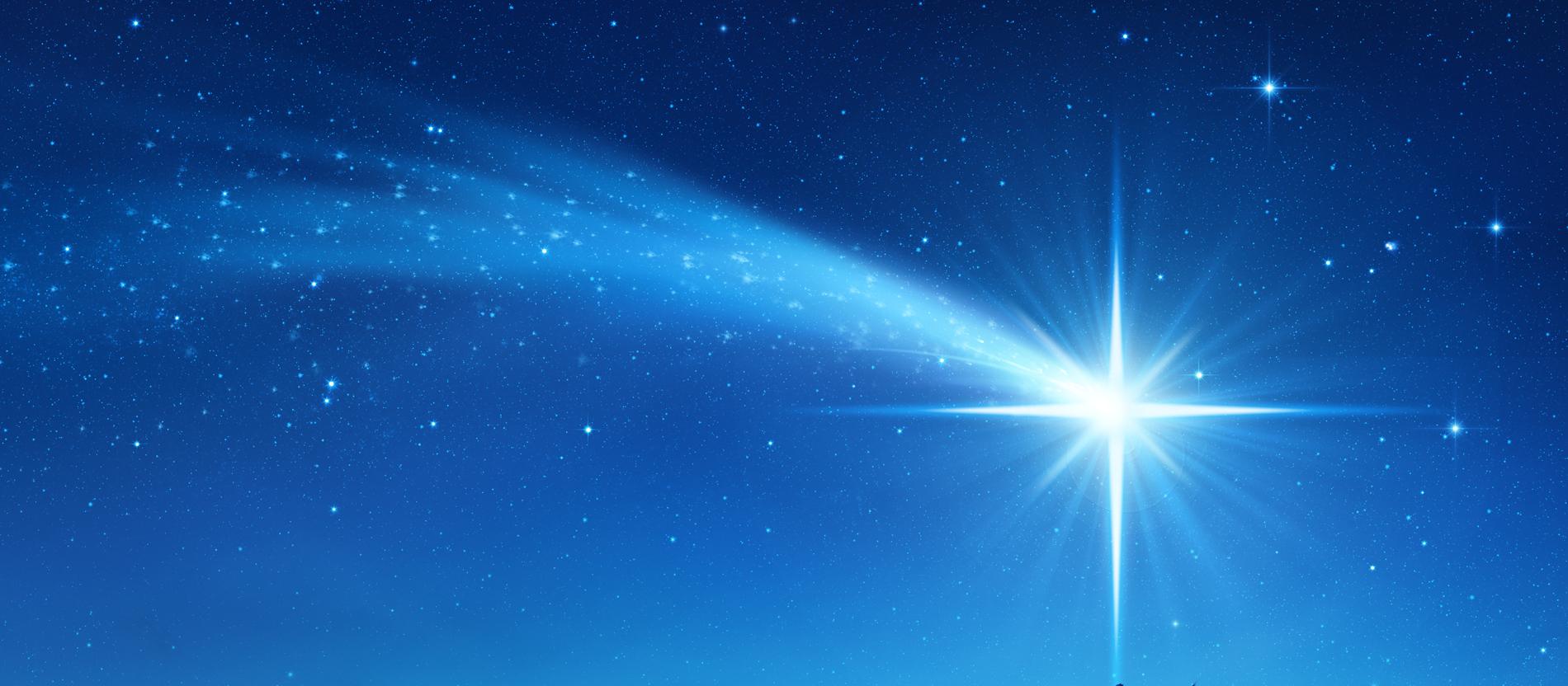 Stern von Bethlehem leuchtet heute am Himmel wie vor 2020 Jahren ⭐